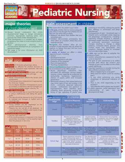 Pediatric Nursing Laminated Reference Guide By Barcharts, Inc. (COM)